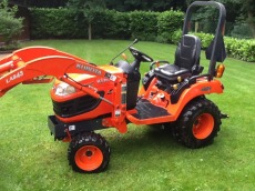 Mini tractor kubota 25pk met frees 120 cm